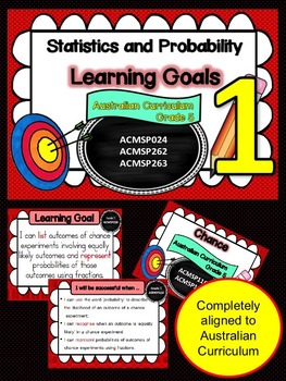 Gr 1  Maths  Statistics & Probability Learning Goals & Suc