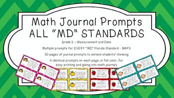 Gr 2 Math Journal Prompts/Topics Florida Standard COLOR MD