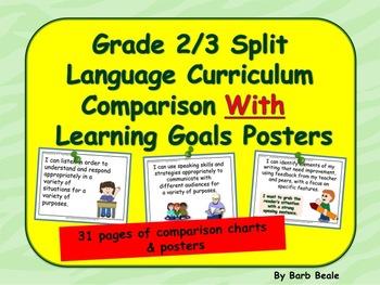 Gr 2/3 Split Language Curriculum Comparison Charts & Learn