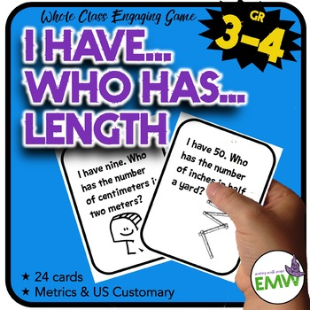 Gr 3-4: I Have, Who Has Game with Measuring Lengths in US