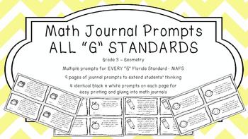 Gr 3 Math Journal Prompts/Topic Florida Standards G Geomet