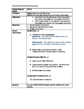 Gr. 3 Ohio Achievement Assessment (OAA) sequencing STUDENT