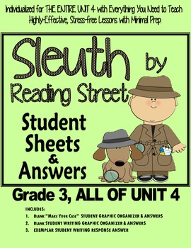 Gr. 3, Reading Street, Sleuth Lesson Plans & Student Sheet