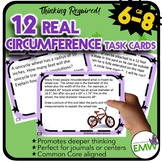 Circumference Task Cards - Deep Thinking, Real Life, and A