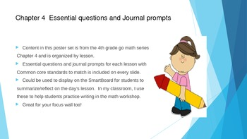 Gr 4 Go Math! Ch. 4 Essential Questions and Journal Prompts