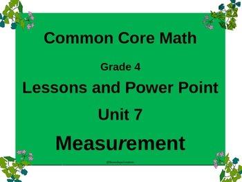 Gr 4 Math Common Core Unit 7 Measurement Notebook & Lesson
