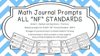 Gr 4 Math Journal Prompt/Topic Florida Standards MAFS B&W