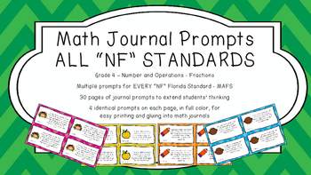 Gr 4 Math Journal Prompt/Topic Florida Standards MAFS COLO