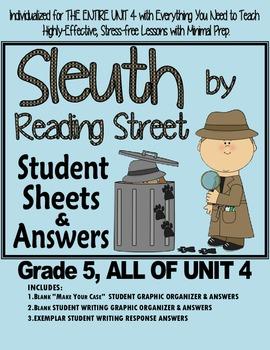 Gr. 5. Reading Street, Sleuth Lesson Plans & Student Sheet