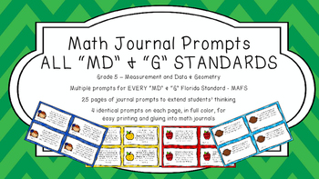 Gr 5 Math Journal Prompt/Topic Florida Standard COLOR Meas
