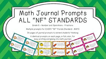 Gr 5 Math Journal Prompt/Topic Florida Standard COLOR NF N