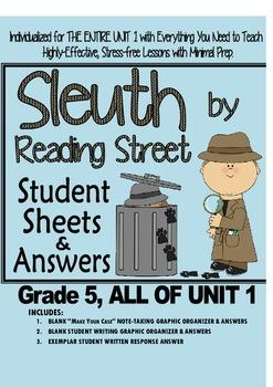 Gr. 5, Reading Street, Sleuth Lesson Plans & Student Sheet