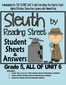 Gr. 5, Reading Street, Sleuth Lesson Plans & Student Sheet