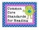 """Gr. 6 """"I Can"""" Statements for Common Core Reading Standards"""