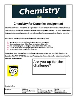 """Chemistry """"Chemistry for Dummies"""" Unit research Project"""