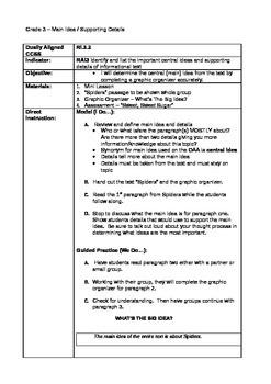 Gr.3 Ohio Achievement Practice for Main Idea and Supportin