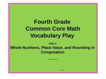 Gr4 Common Core Unit 1 Place Value and Rounding  Vocabular