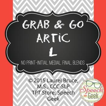 """Grab & Go Artic-No Print Articulation """"L"""""""