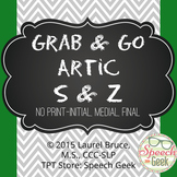 "Grab & Go Artic-No Print Articulation ""S & Z"""