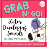 Grab N' Go Later Developing Sounds {Articulation Cards for