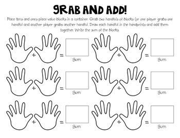Grab and Add/Grab and Subtract {2.NBT.5 freebie!}
