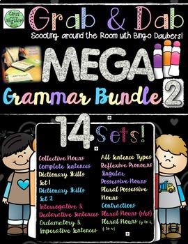 Grab and Dab Grammar Scoot MEGA BUNDLE TWO!