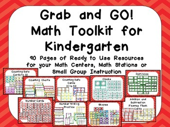Grab and GO! Math Toolkit for Kindergarten Counting, Addit