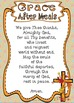 Grace After Meals ~ Prayer Posters, Worksheets and Interac