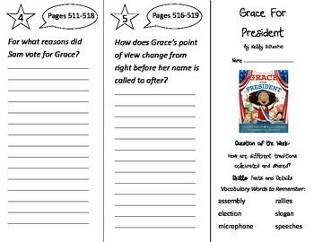 Grace For President Trifold - Reading Street 2nd Grade Uni