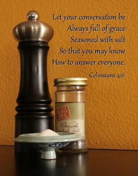 Graceful Conversations Christian Inspirational Poster