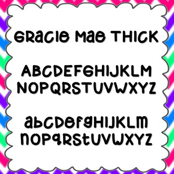 Gracie Mae Thick Font {personal and commercial use; no lic