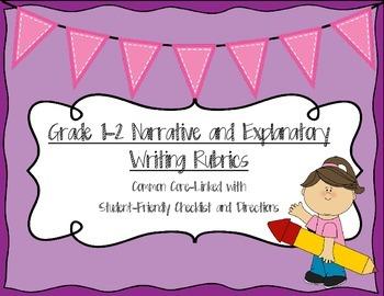 Grade 1-2 Common Core Writing Rubrics