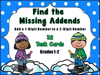 Adding 1-Digit Numbers to 2-Digit Numbers - Unknown Addends