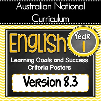 VERSION 8.3 Grade 1 All English - Learning Goals & Success