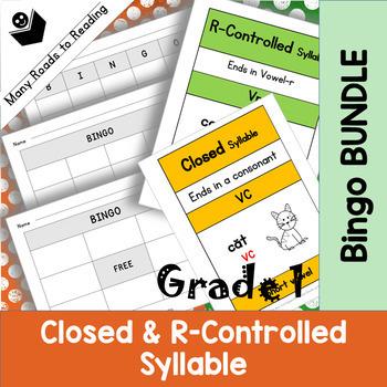 Grade 1 Closed & R-Controlled Bingo Game BUNDLE