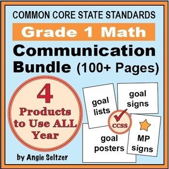 Grade 1 Common Core Math Communication Bundle (Posters, Go