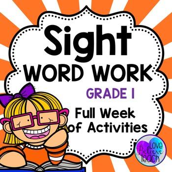 Grade 1 Sight Word Work