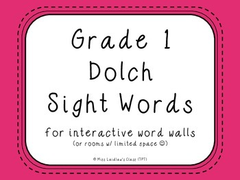 Grade 1 Dolch Sight Words {Pink} - for word walls and games