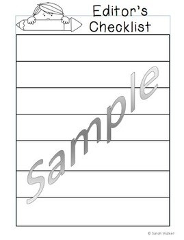 Grade 1 Editing Sheet