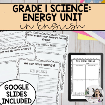 Grade 1 Energy in our Lives Unit (English Version)