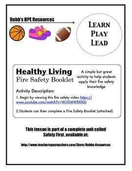 Grade 1 Fire Safety Booklet