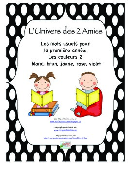 Grade 1 French Immersion Sight Word Colour Package 2