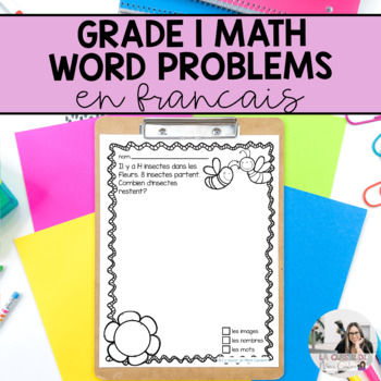 Grade 1 French Math Word Problems (addition and subtractio