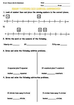 Grade 1 General Maths Test