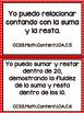 Grade 1 Math Common Core Standards in Spanish