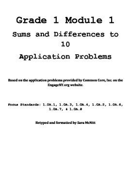 Grade 1 Module 1 Application Problems