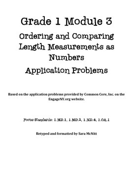 Grade 1 Module 3 Application Problems