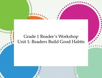 Grade 1 Reader's Workshop Unit 1: Readers Build Good Habits