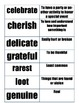 Grade 1 Reading Street Unit 4 Amazing Words, Definitions,