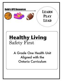 Grade 1 Safety Unit Ontario Curriculum
